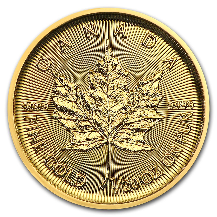 2018 1/20 oz Canadian Gold Maple Leaf Uncirculated