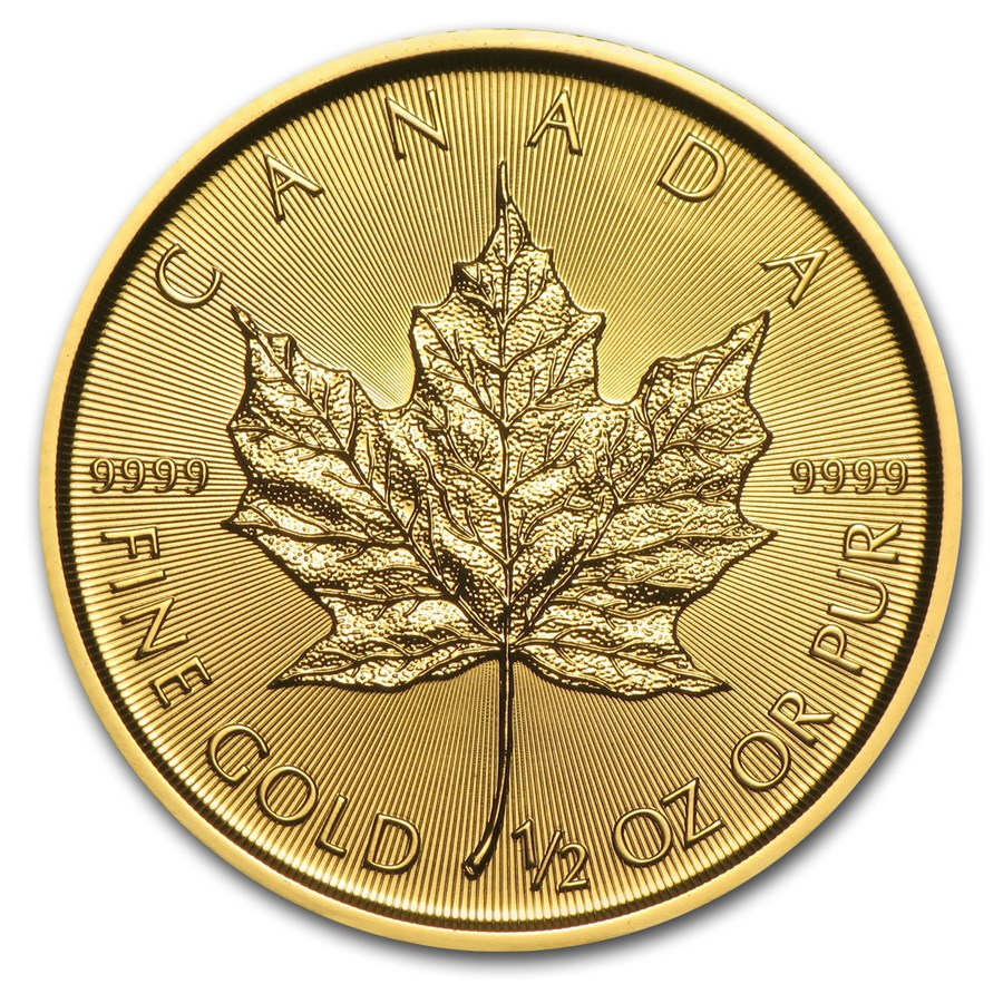 2018 1/2 oz Canadian Gold Maple Leaf Uncirculated