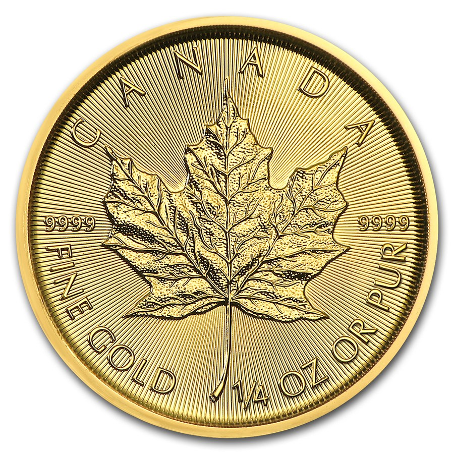 2018 1/4 oz Canadian Gold Maple Leaf Uncirculated