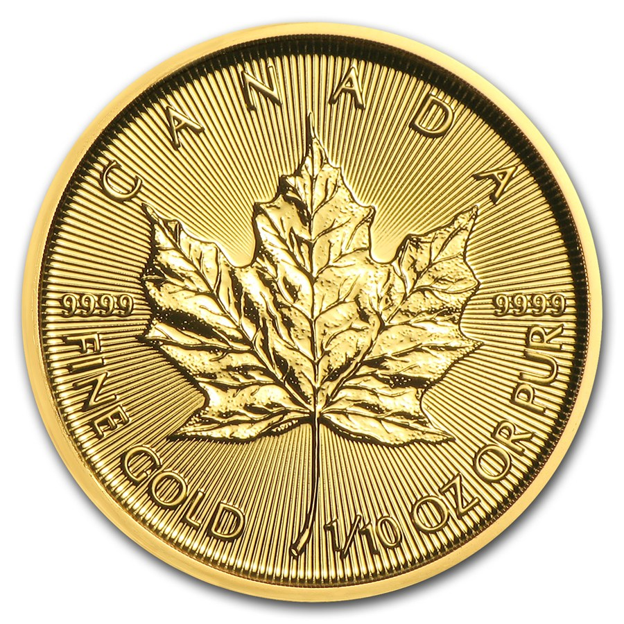 2018 1/10 oz Canadian Gold Maple Leaf Uncirculated