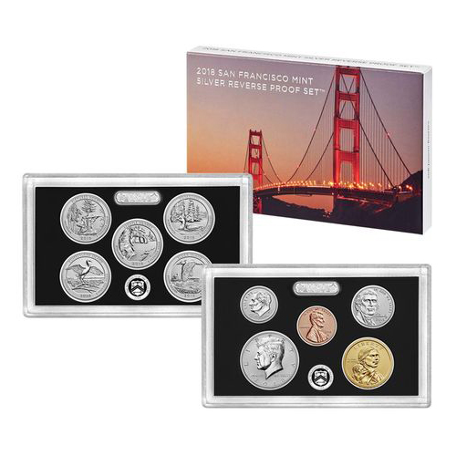 US Proof Set 2018 Silver Reverse Proof