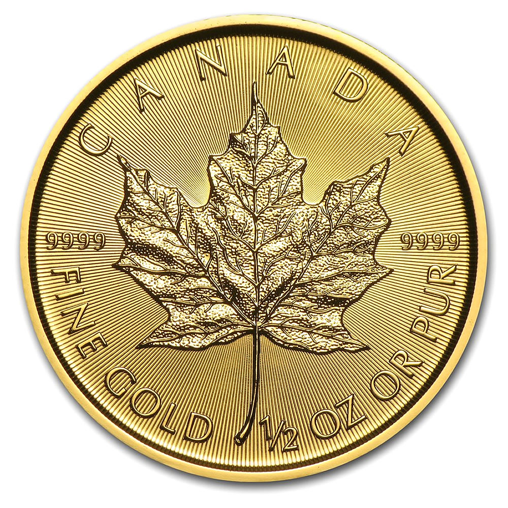 2019 1/2 oz Canadian Gold Maple Leaf Uncirculated