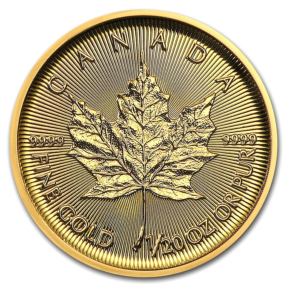 2019 1/20 oz Canadian Gold Maple Leaf Uncirculated