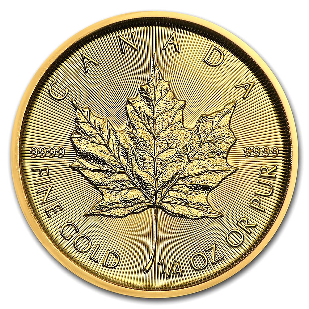 2019 1/4 oz Canadian Gold Maple Leaf Uncirculated