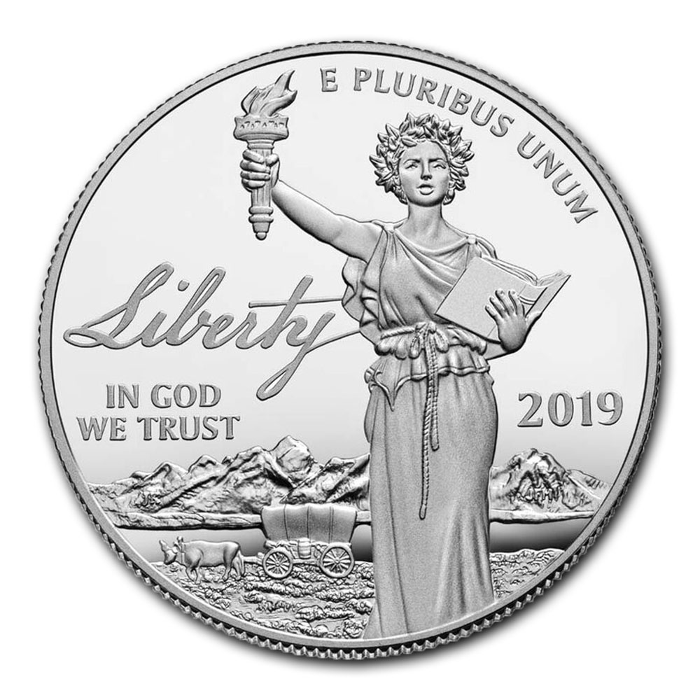 Preamble to the Declaration of Independence 2019-W Platinum Proof Coin - Liberty