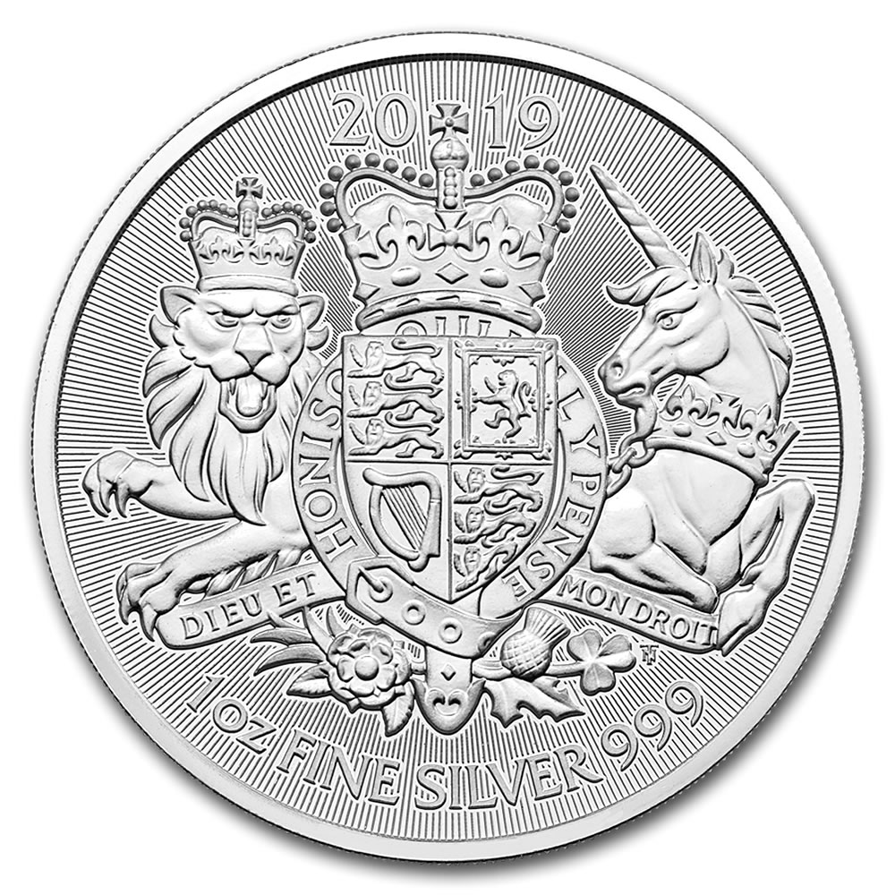 2019 Great Britain 1 oz Silver The Royal Arms (BU)