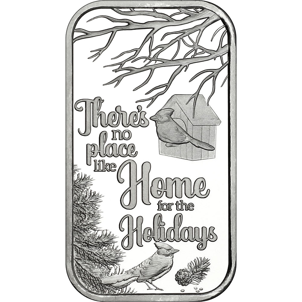 2019 1oz No Place Like Home Christmas Silver Bar (X-12)