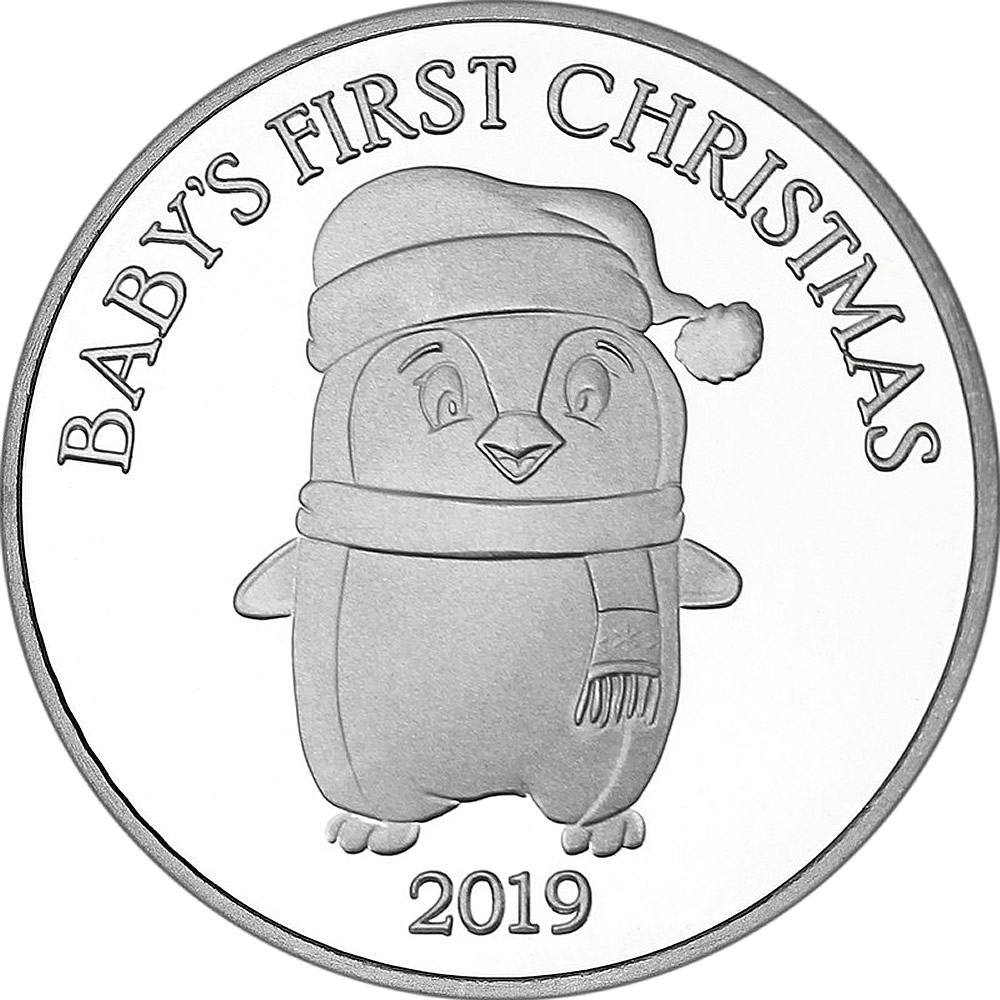 2019 1oz Baby's First Christmas Silver Round (X-14)
