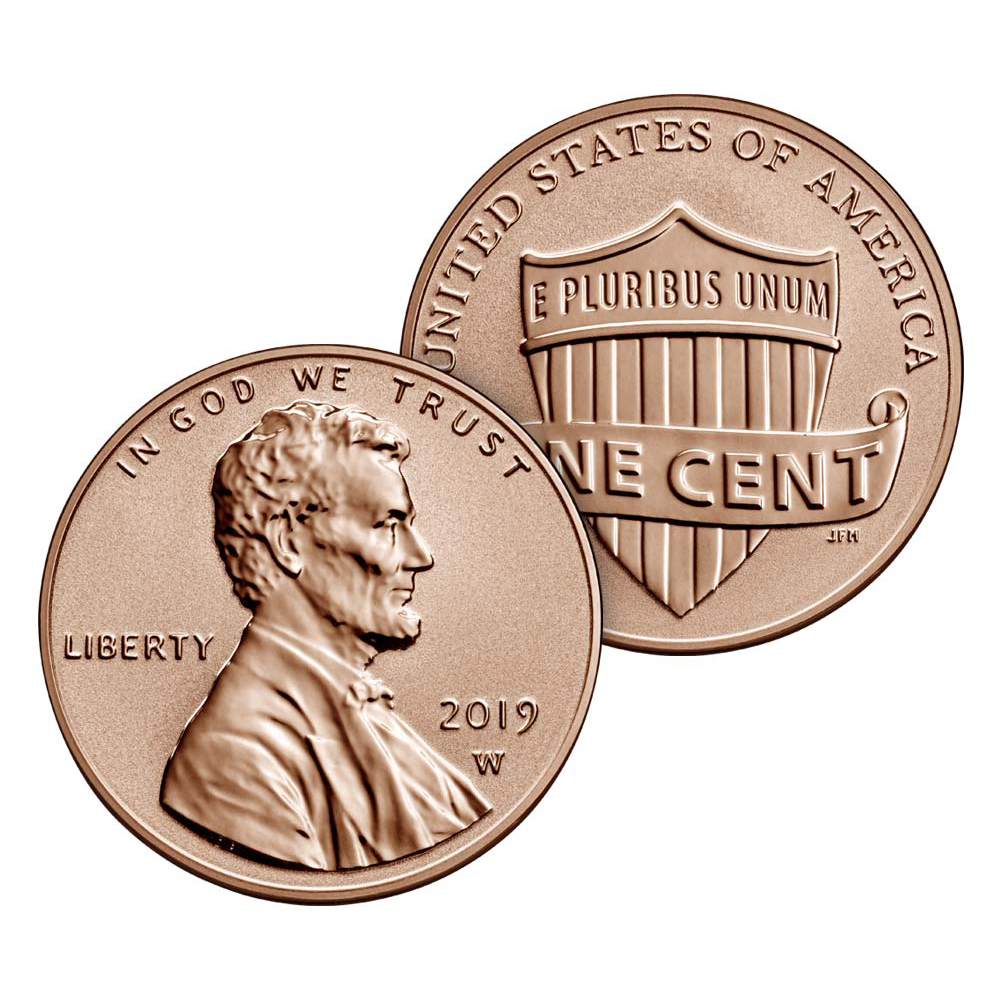 Proof Lincoln Cent 2019-W Reverse Proof in Folder