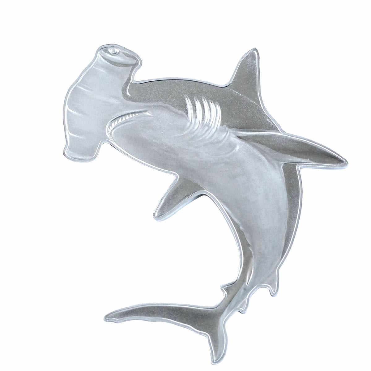 2020 SI 1 oz Silver $2 Hunters of the Deep: Hammerhead Shark