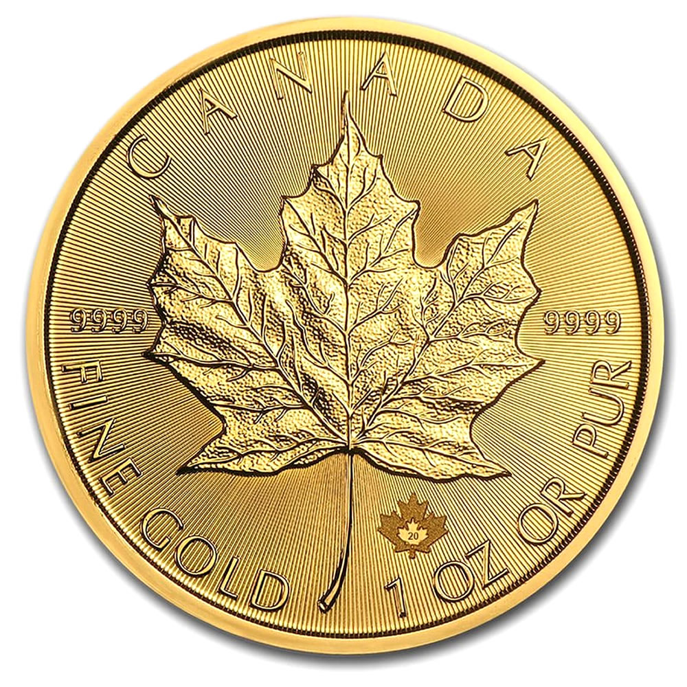 2020 1 oz Canadian Gold Maple Leaf Uncirculated