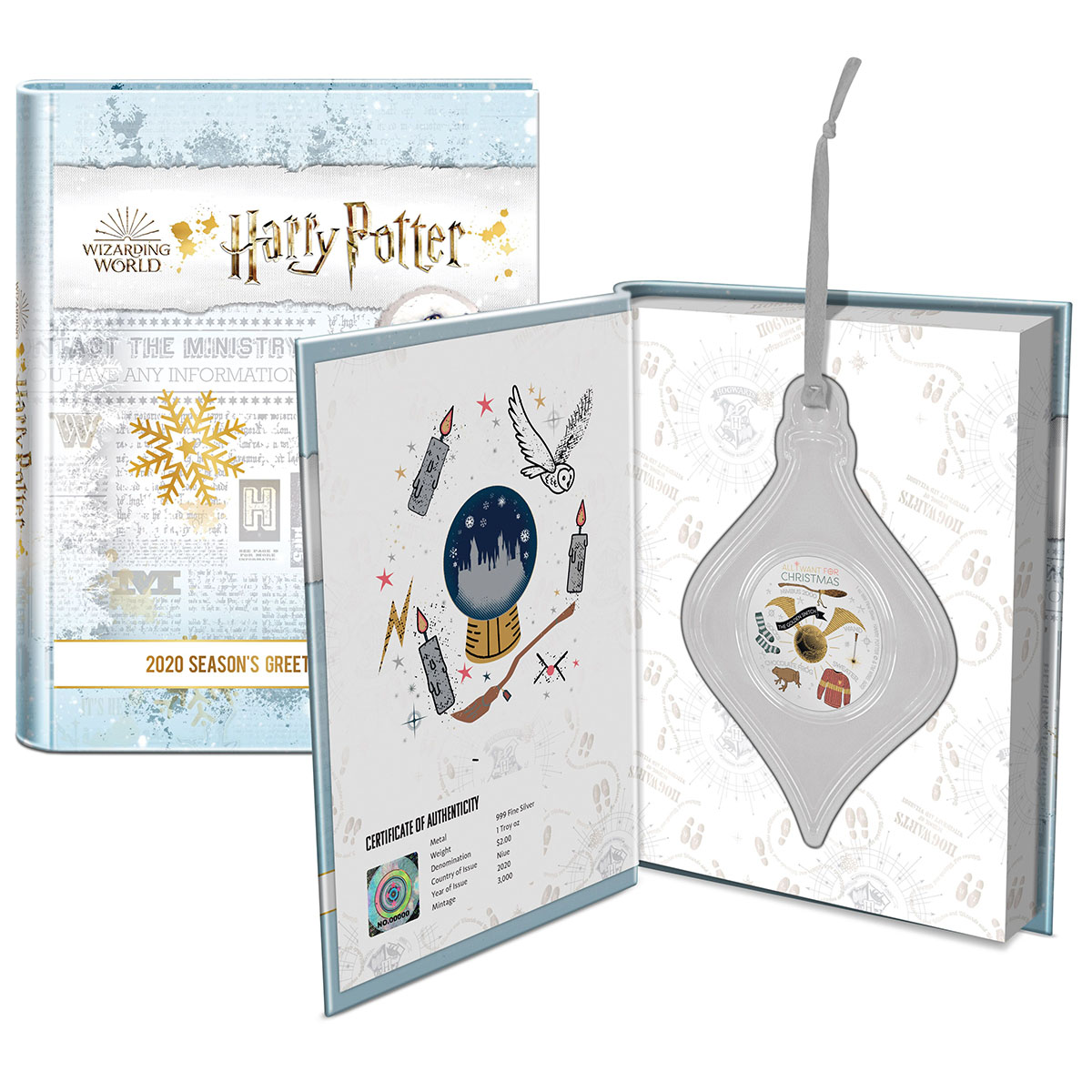HARRY POTTER™ Season's Greetings 2020 1oz Silver Coin