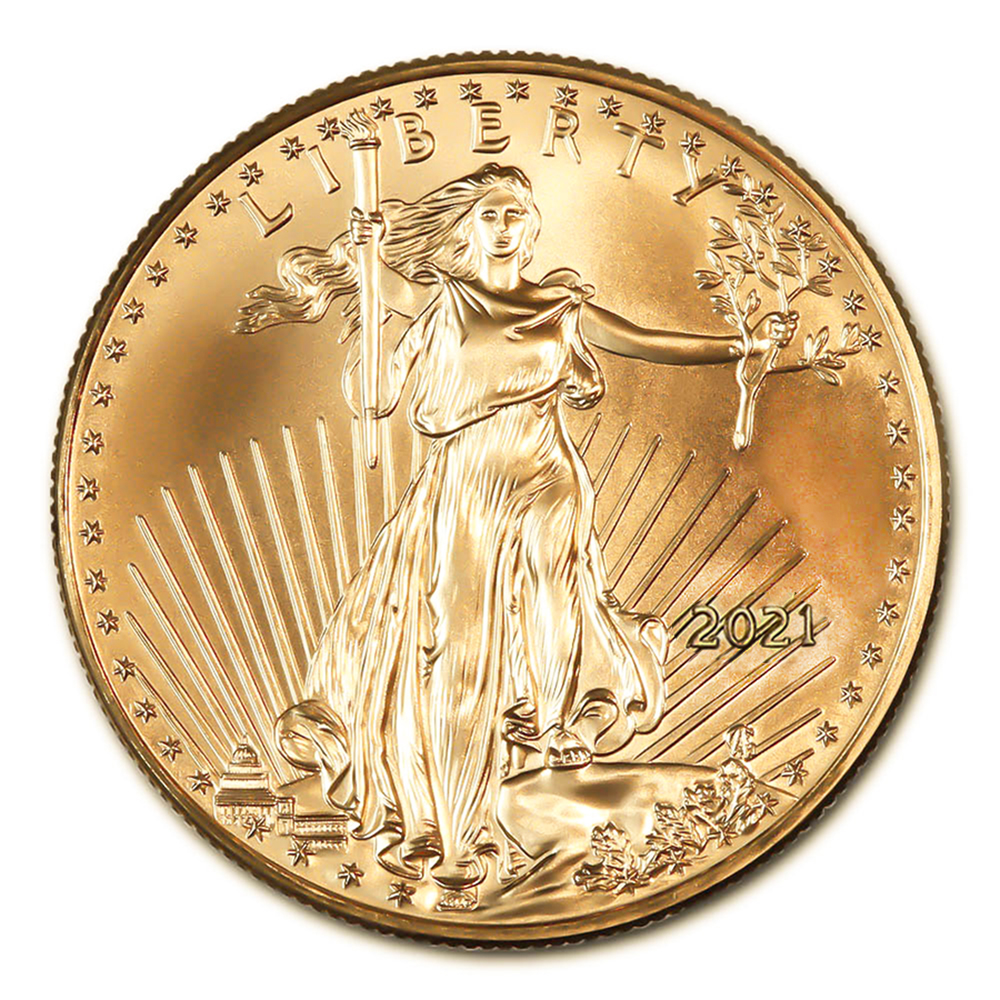 2021 American Gold Eagle 1/2 oz Uncirculated Type 1