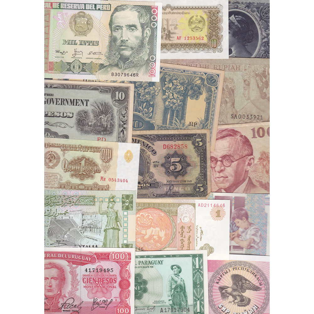 World Traveler: 25 banknotes 25 countries