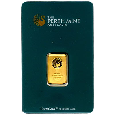 Perth Mint 5 Gram Gold Bar Golden Eagle Coins