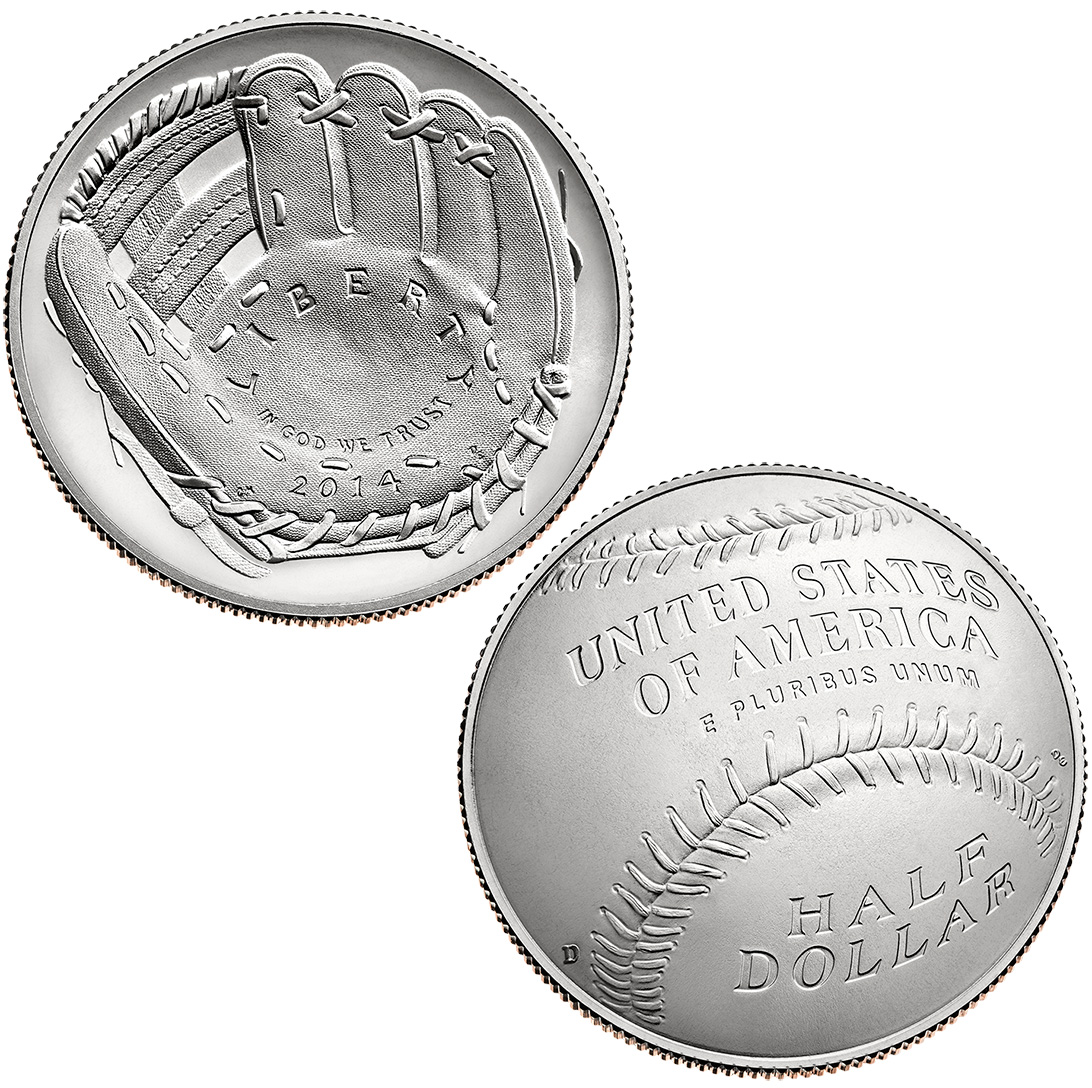 Commemorative Half Dollar 2014 Baseball HOF BU
