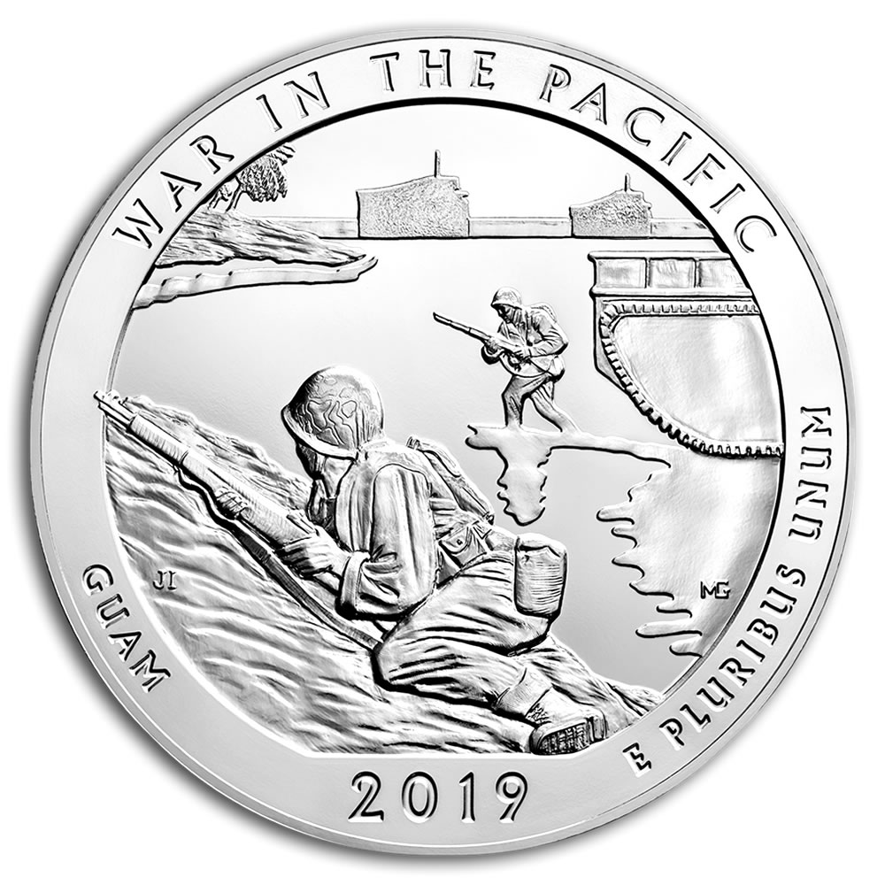 2019 Silver 5oz. War in the Pacific National Hist. Park ATB