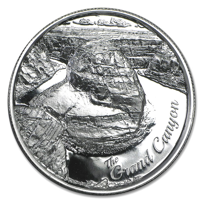 Elemetal Mint 2 oz High Relief Silver Round - Grand Canyon