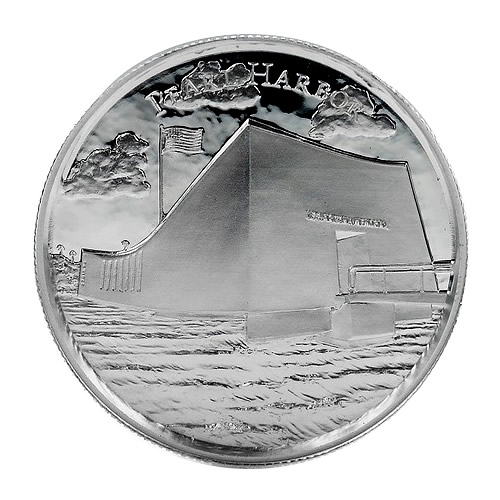 Elemetal Mint 2 oz High Relief Silver Round - Pearl Harbor