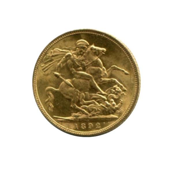 Australia Sydney Mint 1 Sovereign Gold 1892 Au