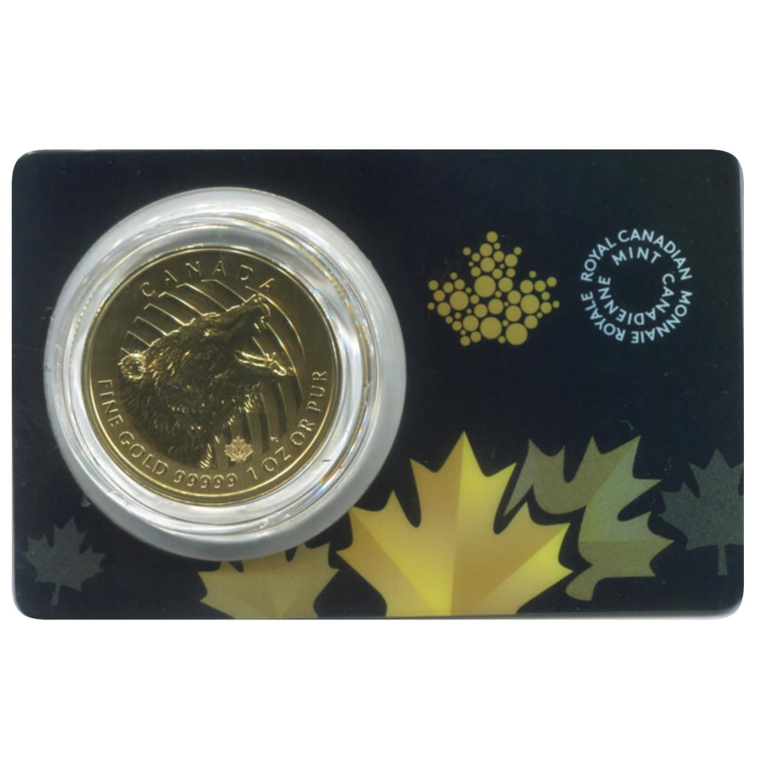 Canada 1 ounce Gold Grizzly 2016 .99999 pure