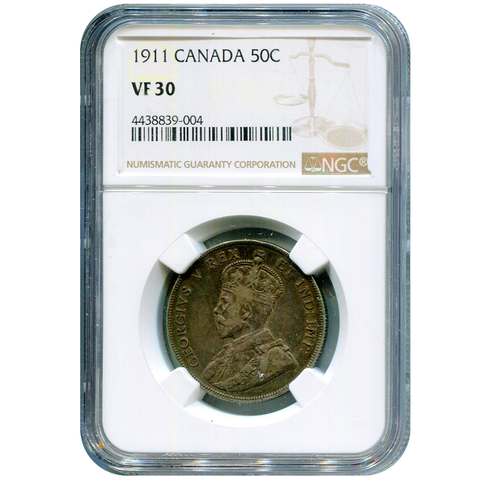 Canada 50 cents 1911 VF30 NGC