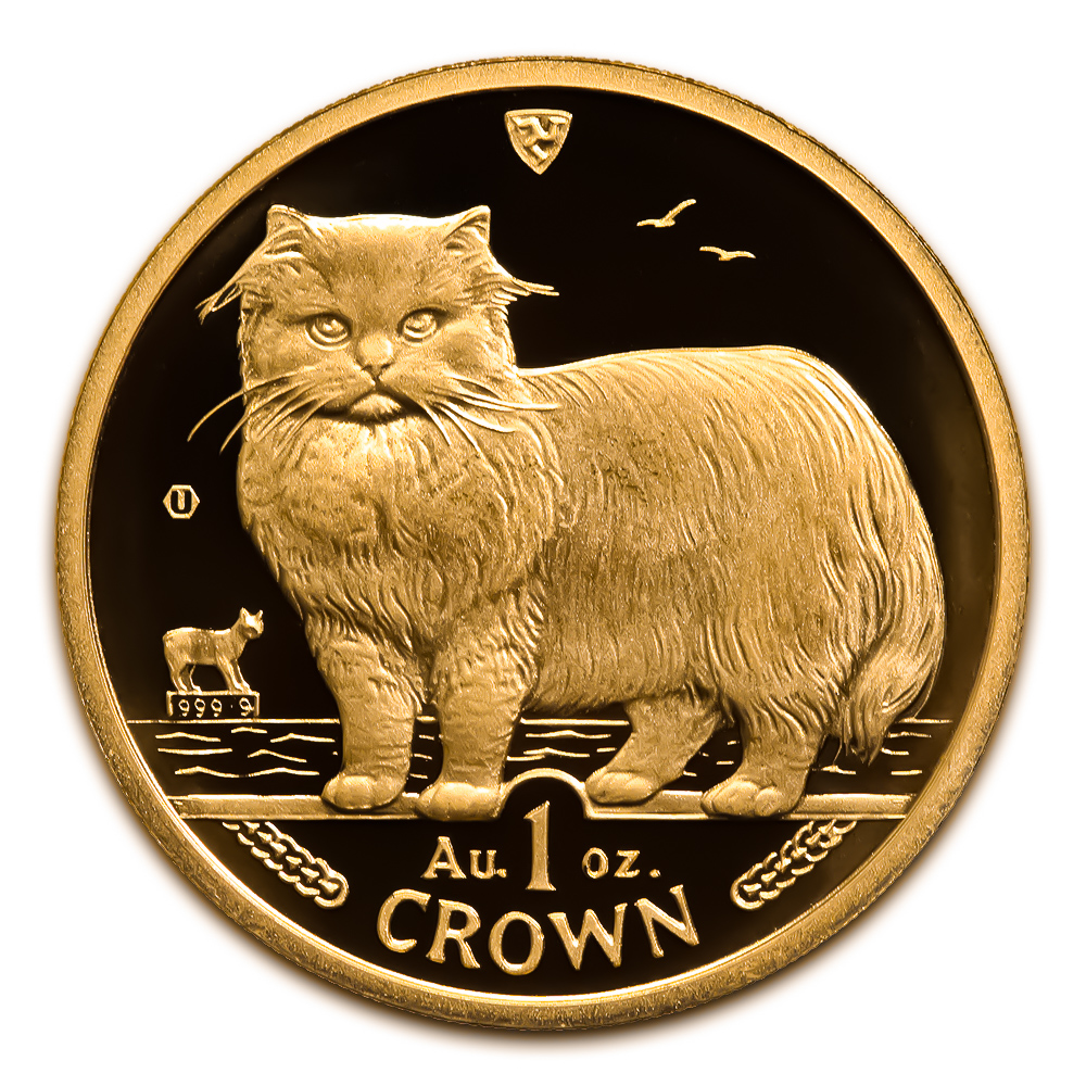 Isle of Man Gold Cat 1 Ounce 1989