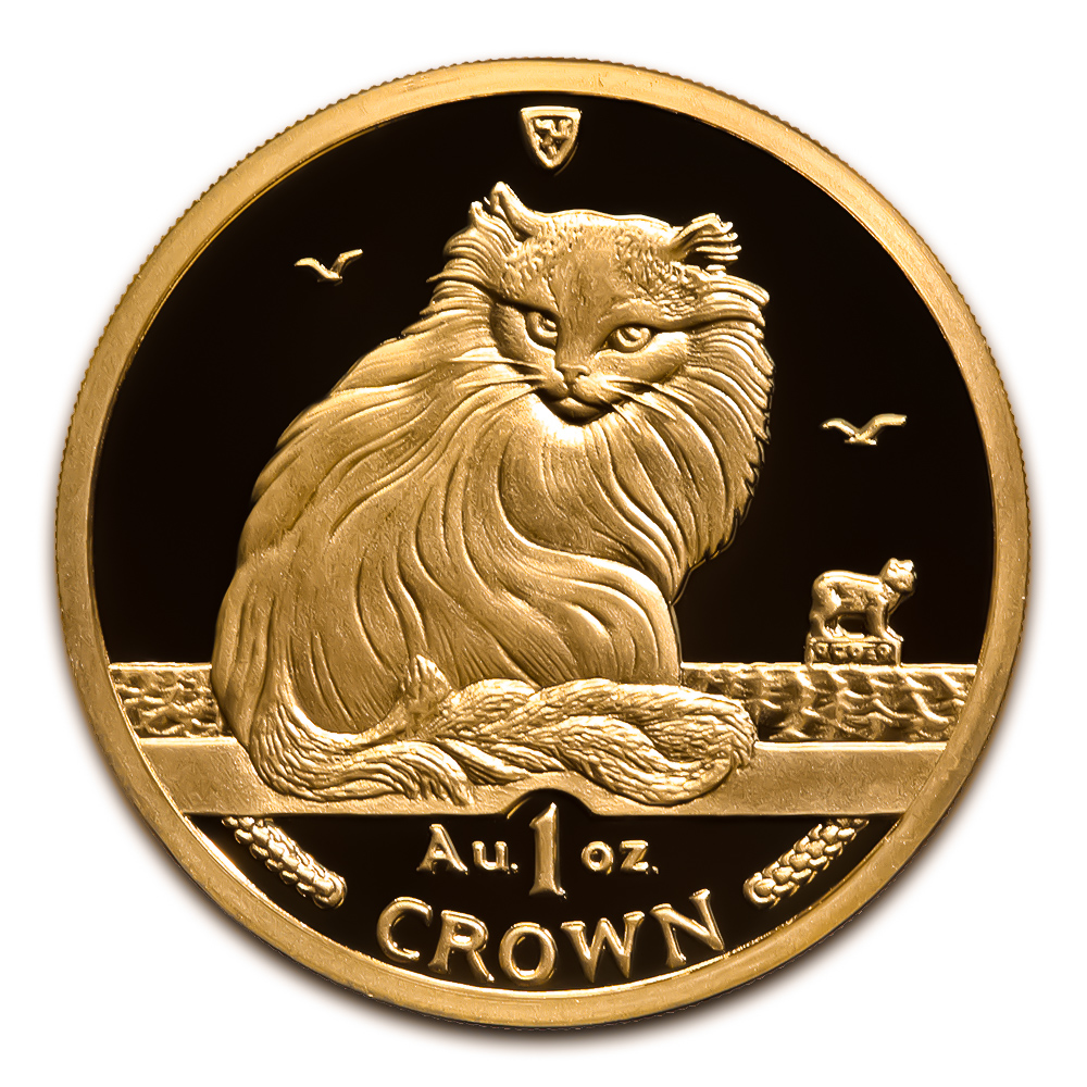 Isle of Man Gold Cat 1 Ounce 1995
