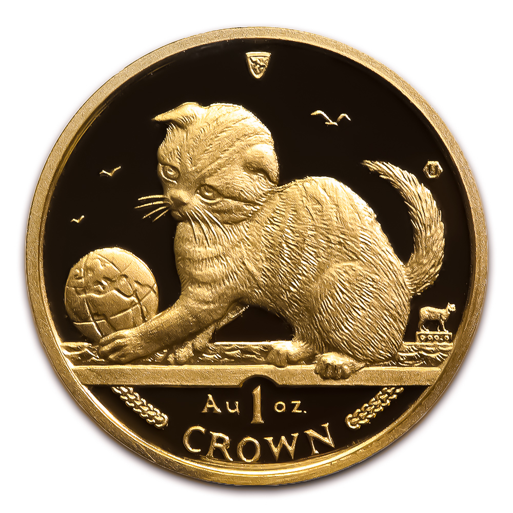 Isle of Man Gold Cat 1 Ounce 2000