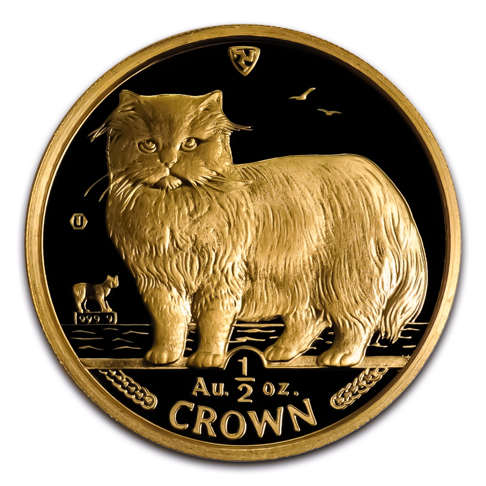 Isle of Man Gold Cat Half Ounce 1989