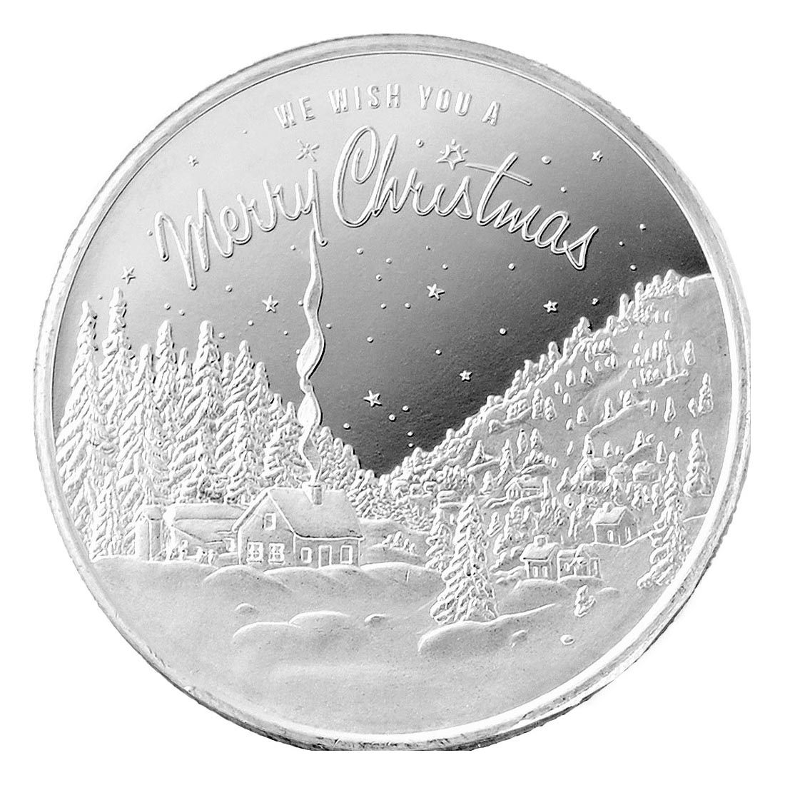 2020 Christmas in the Mountains 1oz Silver Round (D-16)