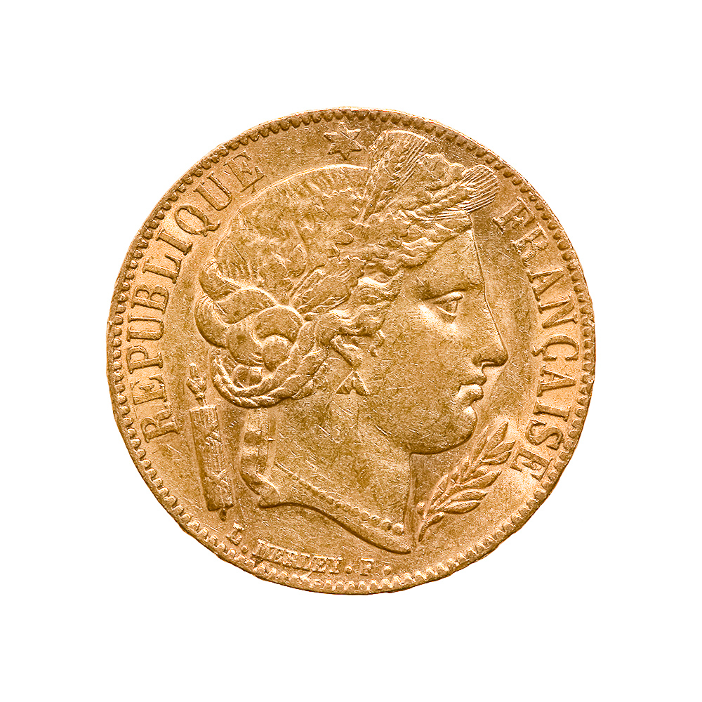 French 20 franc Cerus Gold Coin 1849-1851