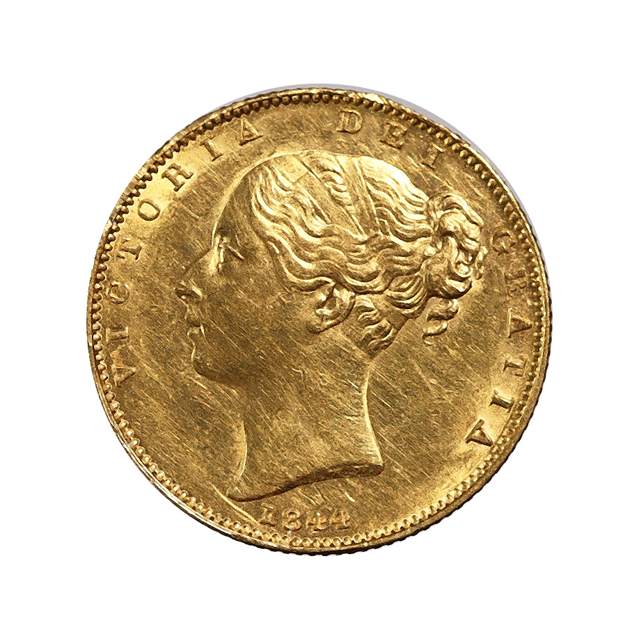 Great Britain Gold Sovereign 1844 AU