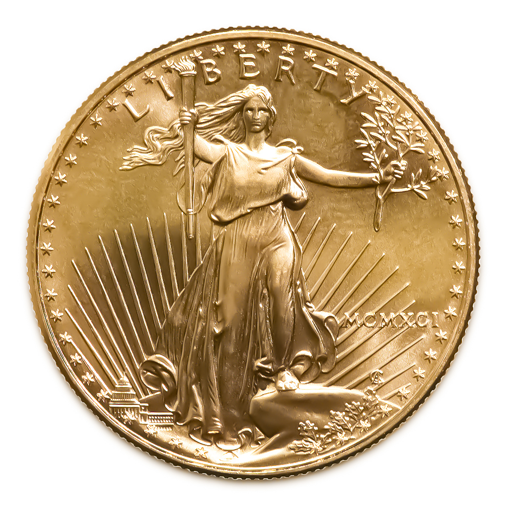 1991 American Gold Eagle 1 4 Oz Uncirculated Golden