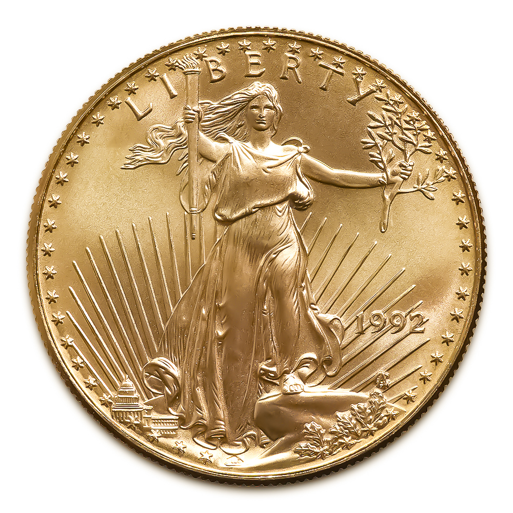 1992 American Gold Eagle 1/10 oz Uncirculated