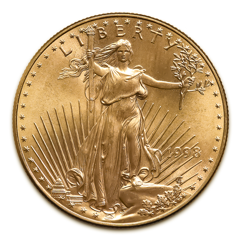1998 American Gold Eagle 1/2 oz Uncirculated
