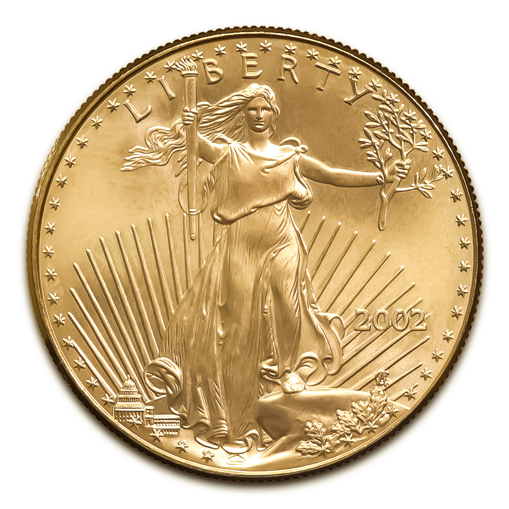2002 American Gold Eagle 1/10 oz Uncirculated