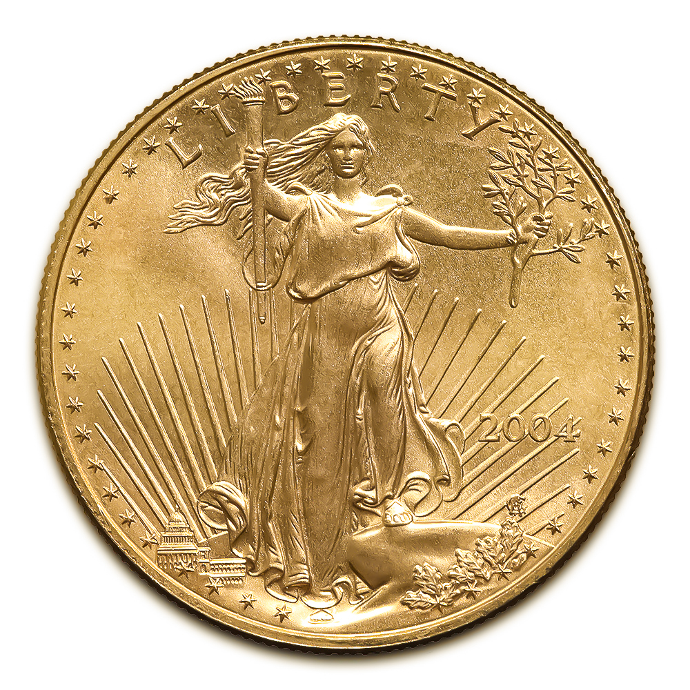 2004 American Gold Eagle 1/2 oz Uncirculated