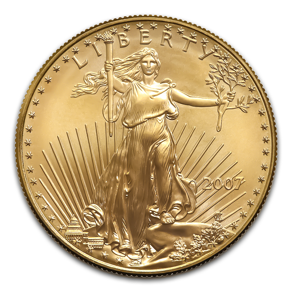 2007 American Gold Eagle 1/2 oz Uncirculated