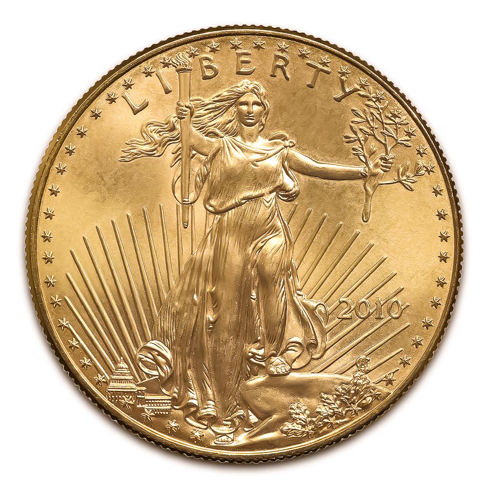 2010 American Gold Eagle 1 10 Oz