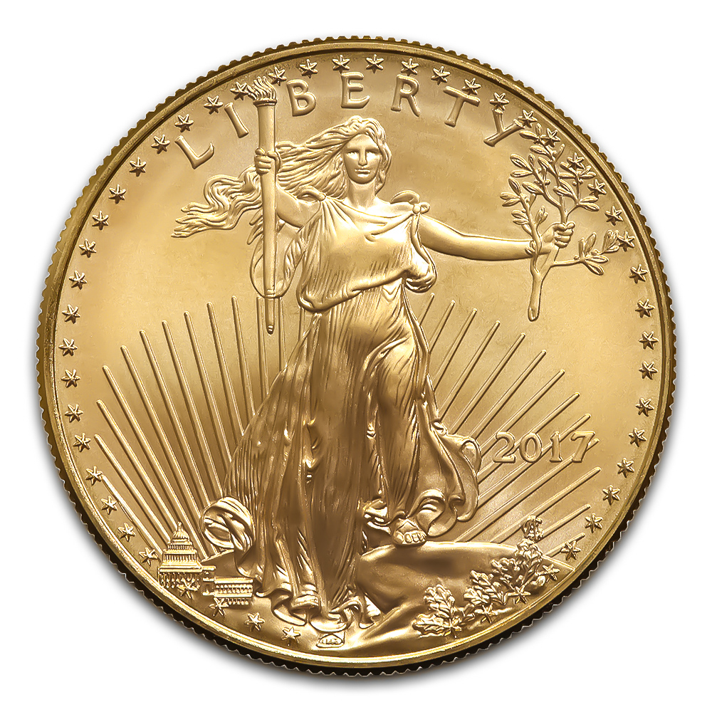 2017 American Gold Eagle 1/2 oz Uncirculated