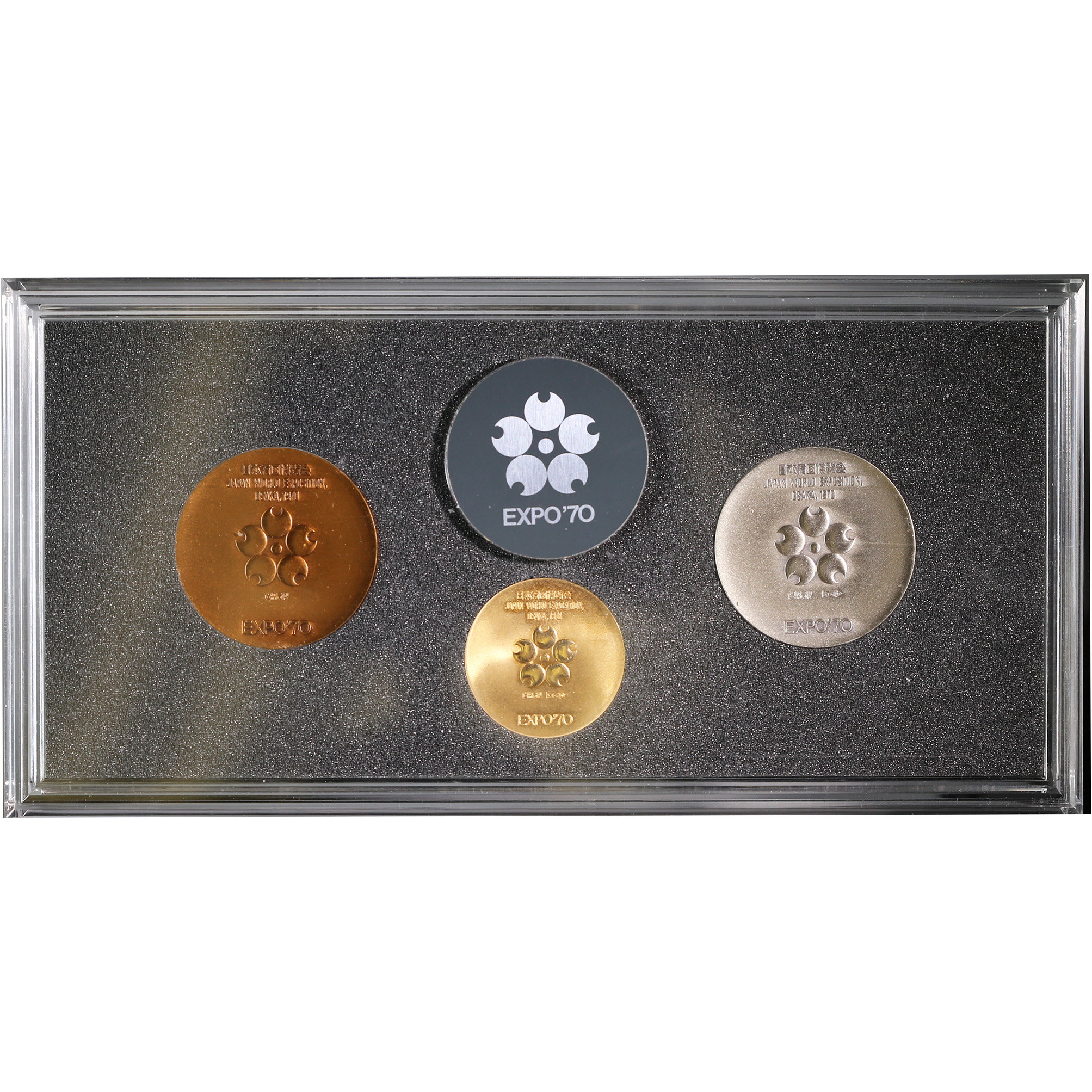 Japan World Expo 1970 Gold Silver Copper Medal Set