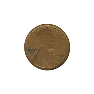 Lincoln Cent G-VG 1910-S