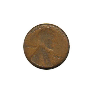 Lincoln Cent G-VG 1924-S
