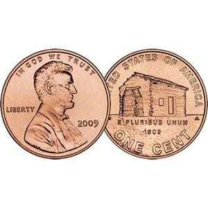 2009 Lincoln Cent Roll - Birthplace