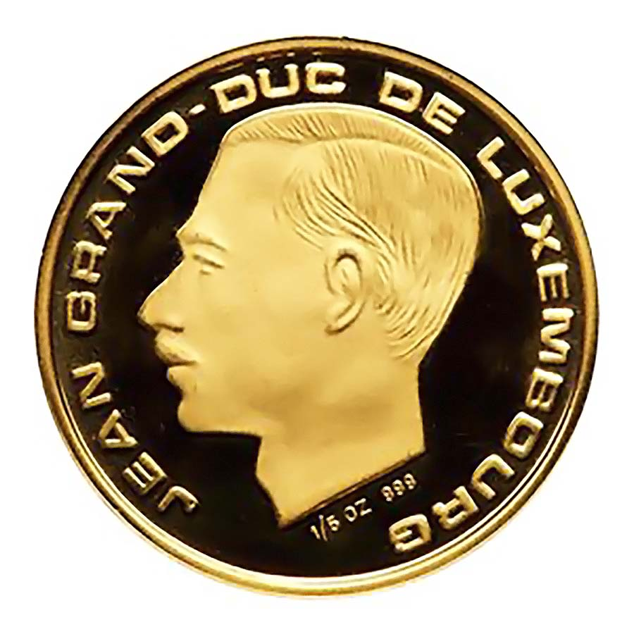 Luxembourg 20 Francs Gold 1989 150th Anniversary