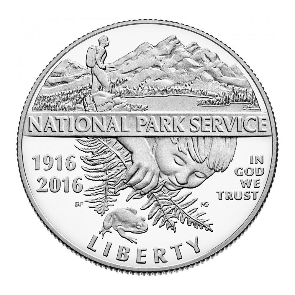 Commemorative Half Dollar 2016 100th Anniversary National Park Service Proof Half Dollar