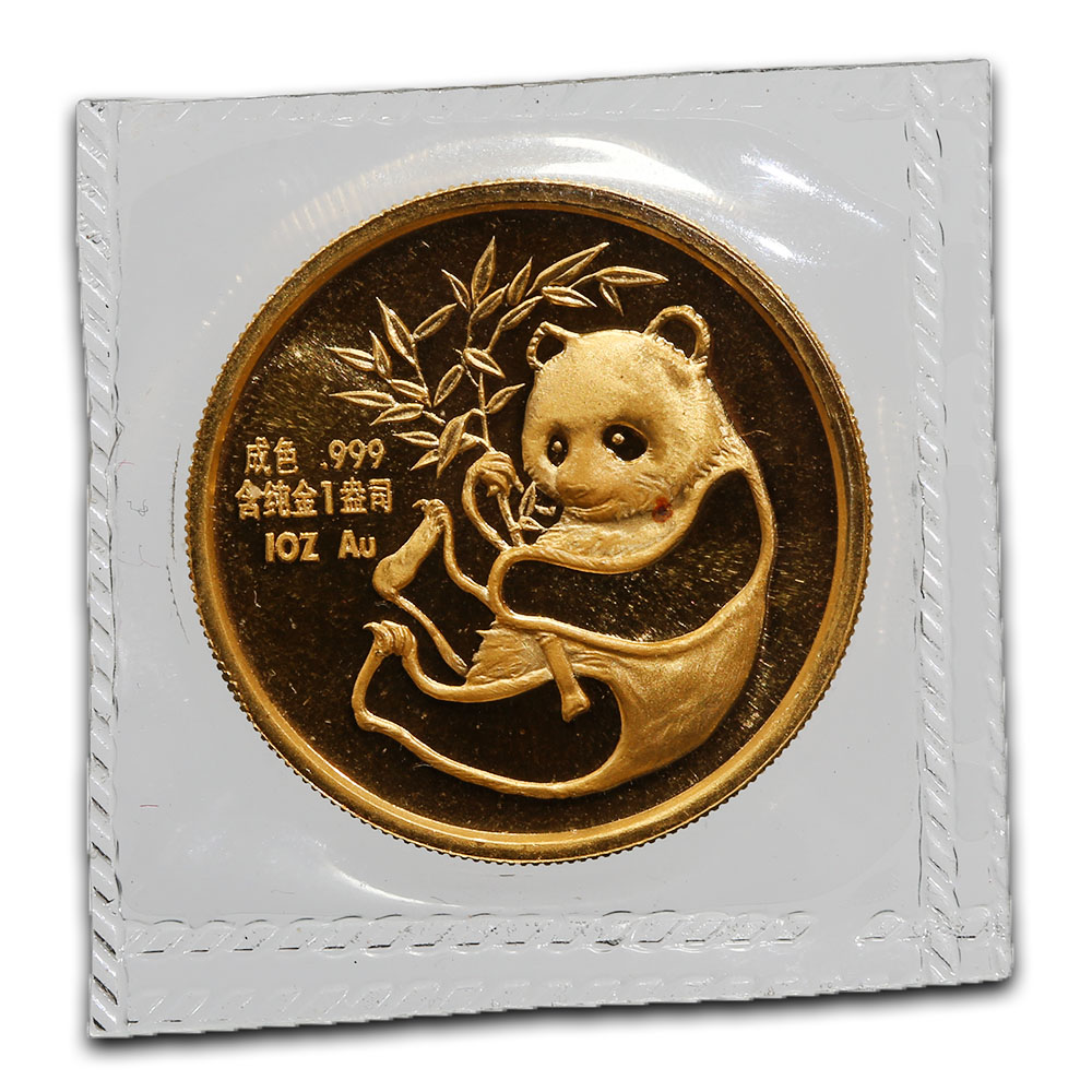 Chinese Gold Panda 1 Ounce 1987 San Francisco International Coin Expo
