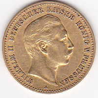 Germany Prussia 10 mark gold 1890-1912