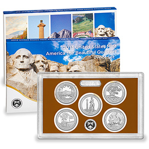 US Proof Set 2013 5pc (Quarters Only) America The Beautiful